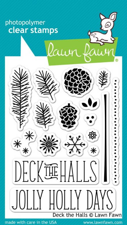 LF0721 M ~ DECK THE HALLS ~ CLEAR STAMPS BY LAWN FAWN